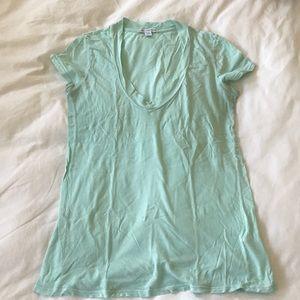 James Peter Turquoise V-Neck T-Shirt